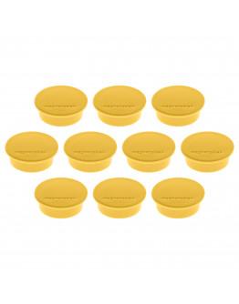 Магниты круглые 40/2.2 желтые Magnetoplan Discofix Color Yellow Set (1662002)
