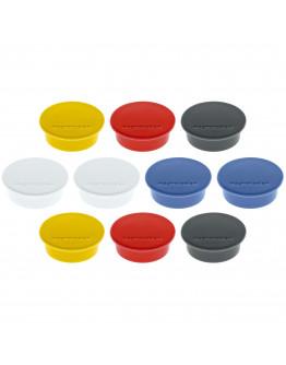 Магниты круглые 40/2.2 разноцветные Magnetoplan Discofix Color Assorted Set (1662010)