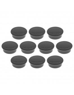 Магниты круглые 40/2.2 черные Magnetoplan Discofix Color Black Set (1662012)