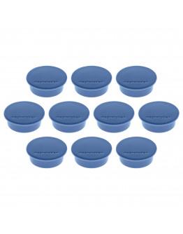 Магниты круглые 40/2.2 синие Magnetoplan Discofix Color Dark-Blue Set (1662014)