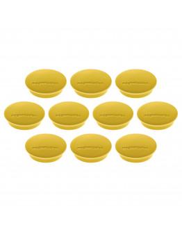 Магниты круглые 34/1.3 желтые Magnetoplan Discofix Junior Yellow Set (1662102)