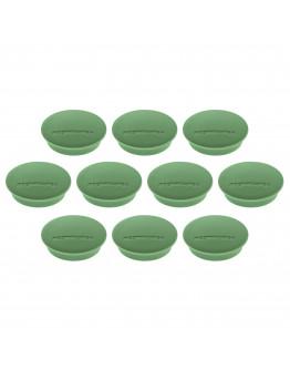 Магниты круглые 34/1.3 зеленые Magnetoplan Discofix Junior Green Set (1662105)