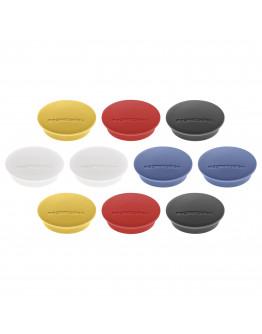 Магниты круглые 34/1.3 разноцветные Magnetoplan Discofix Junior Assorted Set (1662110)