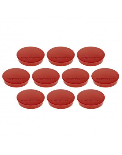 Магниты круглые 30/0.7 красные Magnetoplan Discofix Standard Red Set (1664206)