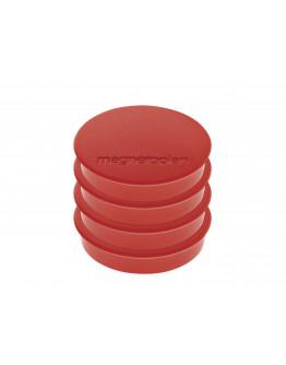 Магниты круглые 30/0.7 блистер Magnetoplan Discofix Standard Red Set (16642406)