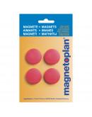 Магниты круглые 30/0.7 блистер красные Magnetoplan Discofix Standard Red Set (16642406)