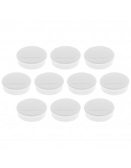 Магниты круглые 24/0.3 белые Magnetoplan Discofix Hobby White Set (1664500)