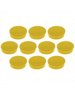 Магниты круглые 24/0.3 желтые Magnetoplan Discofix Hobby Yellow Set (1664502)