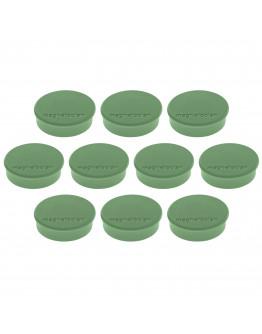 Магниты круглые 24/0.3 зеленые Magnetoplan Discofix Hobby Green Set (1664505)
