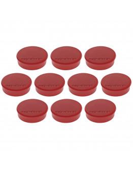Магниты круглые 24/0.3 красные Magnetoplan Discofix Hobby Red Set (1664506)