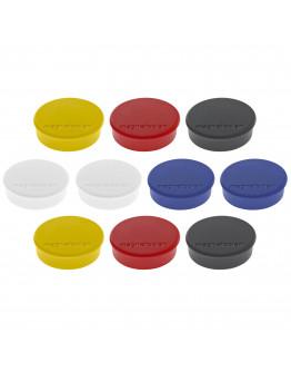 Магниты круглые 24/0.3 разноцветные Magnetoplan Discofix Hobby Assorted Set (1664510)