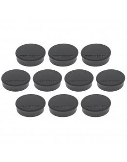 Магниты круглые 24/0.3 черные Magnetoplan Discofix Hobby Black Set (1664512)