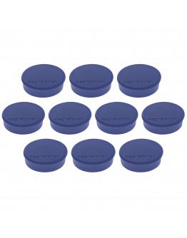Магниты круглые 24/0.3 синие Magnetoplan Discofix Hobby Dark-Blue Set (1664514)