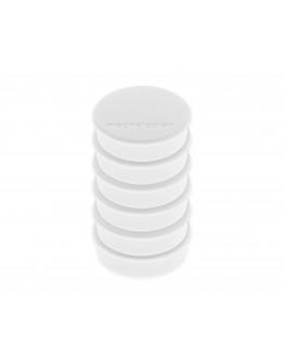 Магниты круглые 24/0.3 блистер белые Magnetoplan Discofix Hobby White Set (16645600)