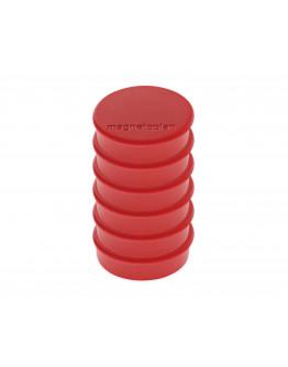 Магниты круглые 24/0.3 блистер красные Magnetoplan Discofix Hobby Red Set (16645606)