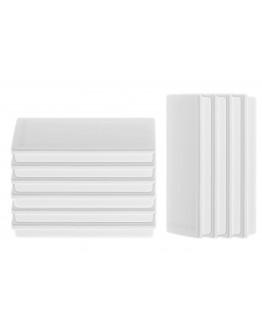 Магниты прямоугольные 55x22/1.3 белые Magnetoplan Rechteck White Set (1665100)