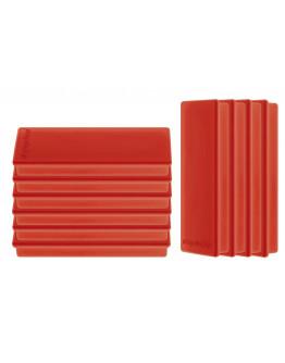 Магниты прямоугольные 55x22/1.3 красные Magnetoplan Rechteck Red Set (1665106)