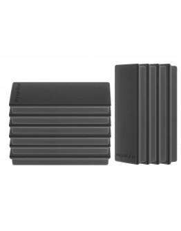 Магниты прямоугольные 55x22/1.3 черные Magnetoplan Rechteck Black Set (1665112)
