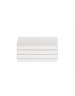 Магниты прямоугольные 55x22/1.3 блистер белые Magnetoplan Rechteck White Set (16651400)
