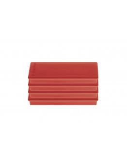 Магниты прямоугольные 55x22/1.3 блистер красные Magnetoplan Rechteck Red Set (16651406)