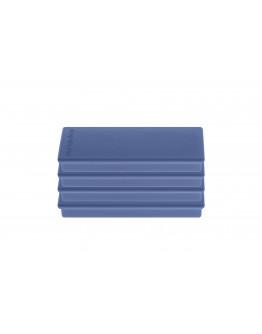 Магниты прямоугольные 55x22/1.3 блистер синие Magnetoplan Rechteck Dark-Blue Set (16651414)