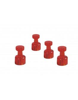 Магниты-гвоздики 11/0.05 красные Magnetoplan Memo-holder Red Set (1666118)