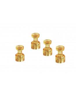 Магниты-гвоздики 11/0.05 желтые Magnetoplan Memo-holder Yellow Set (1666144)