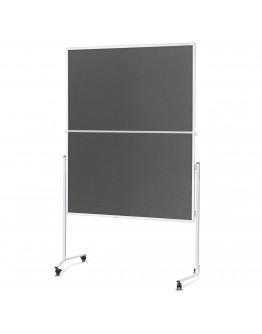 Доска модерационная мобильная складная 1200x1500 Magnetoplan Folding Felt-Gray Mobile (2111301)