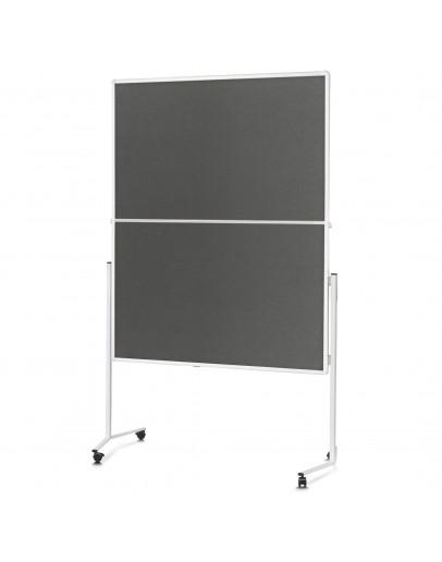 Доска модерационная мобильная складная 1200x1500 серая Magnetoplan Folding Felt-Gray Mobile (2111301)