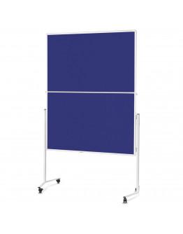 Доска модерационная мобильная складная 1200x1500 Magnetoplan Folding Felt-Blue Mobile (2111303)